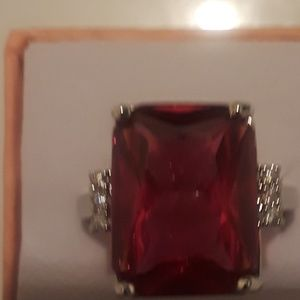 Ruby gemstone ring size 9 brand new